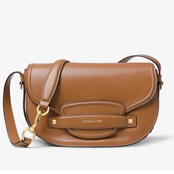 4933116bdde3 Michael Kors Bags | Cary Medium Leather Saddle Bag | Poshmark